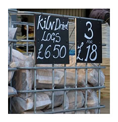 Kiln Dried Logs for sale Evesham