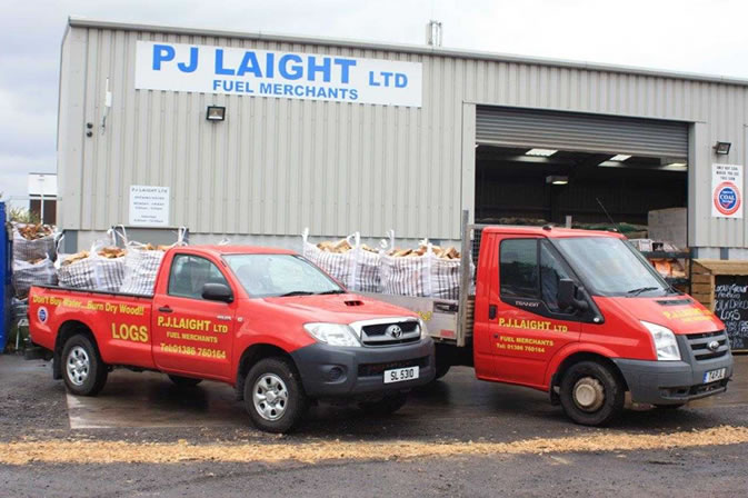 P J Laight evesham Delivery Trucks