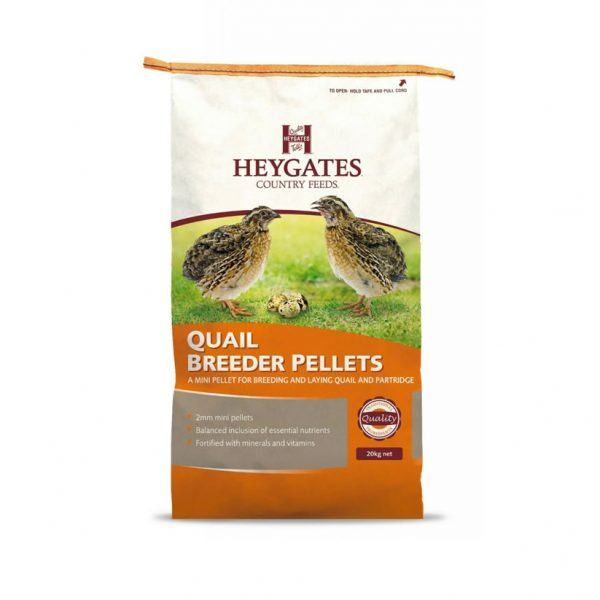 Heygates Partridge and Quail 20kg for sale Evesham and online.