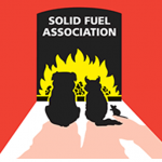 PJ Laight Solid Fuel Association logo Evesham and online home link image